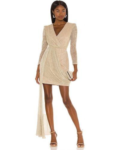 Платье мини с люрексом - золотое Patbo
