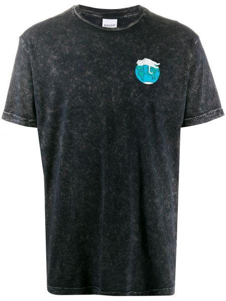 Bawełna prosto czarny koszula krótkie z krótkim rękawem okrągły dekolt Ripndip