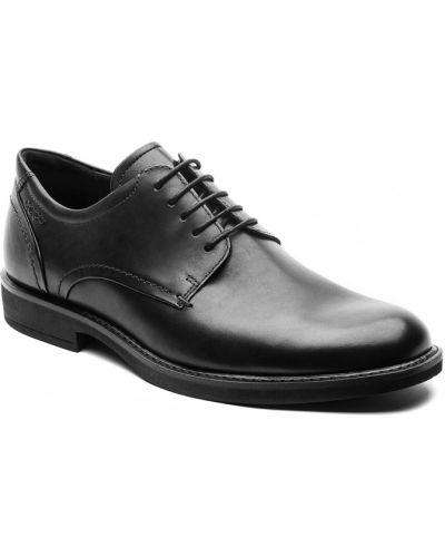 Кожаные туфли черные легкие Ecco