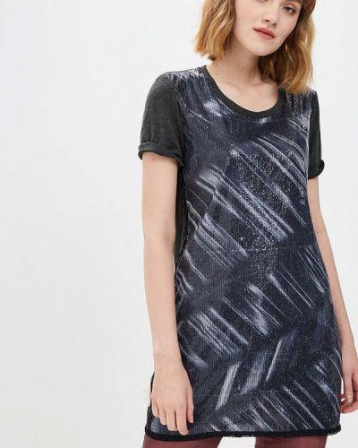 Серое платье футболка Custo Barcelona