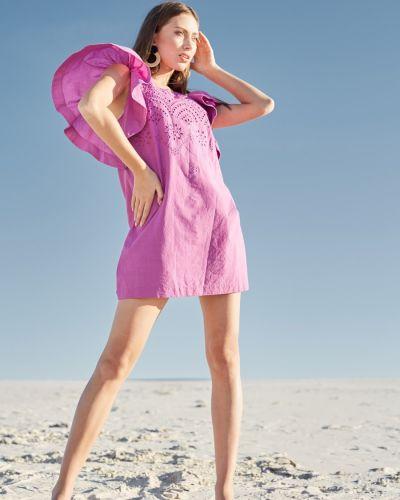 Хлопковое платье - фиолетовое Ora