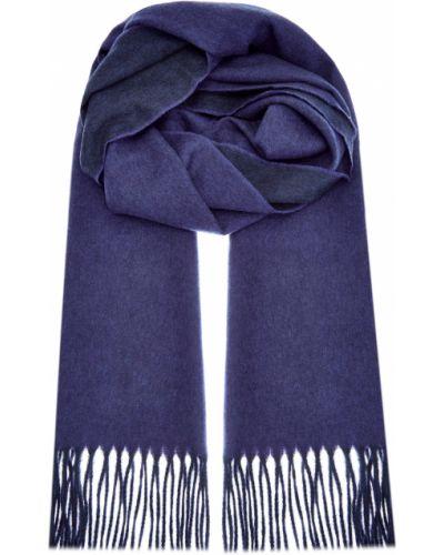 Синий кашемировый шарф Bertolo Cashmere