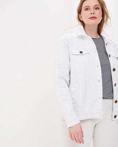 Джинсовая куртка весенняя белая Zizzi