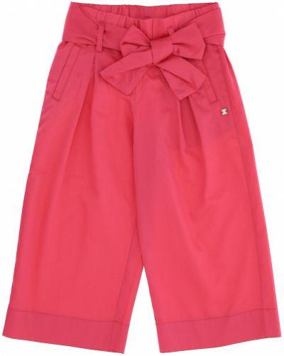 Хлопковые розовые укороченные брюки свободного кроя Original Marines
