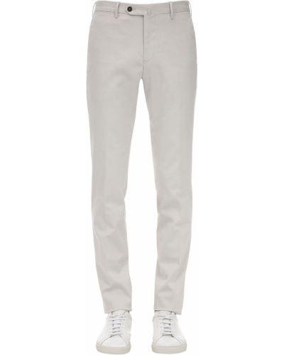 Beżowe spodnie bawełniane z paskiem Pantaloni Torino