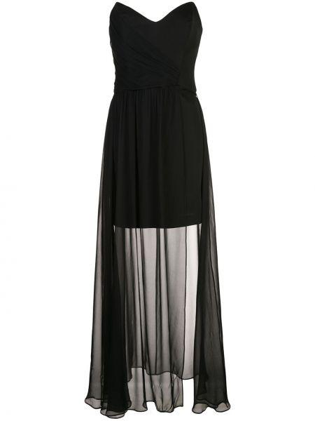 Черное приталенное вечернее платье Nicole Miller