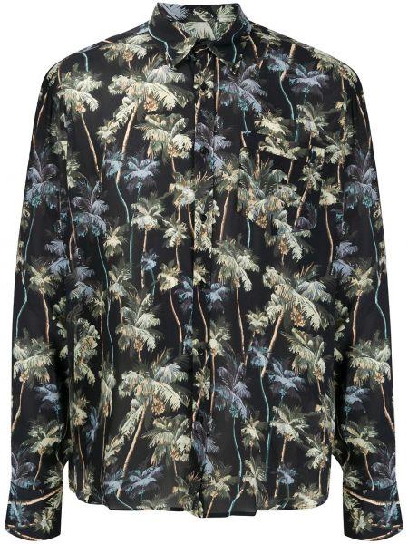 Классическая черная рубашка с воротником на пуговицах Christian Pellizzari