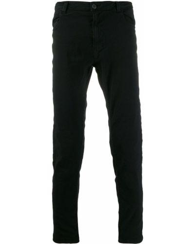 Черные прямые брюки с поясом на пуговицах новогодние Poème Bohémien
