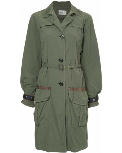 Пальто с поясом милитари Kolor