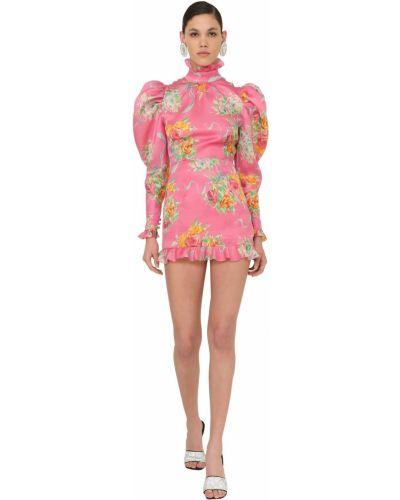 Платье макси длинное - розовое Alessandra Rich