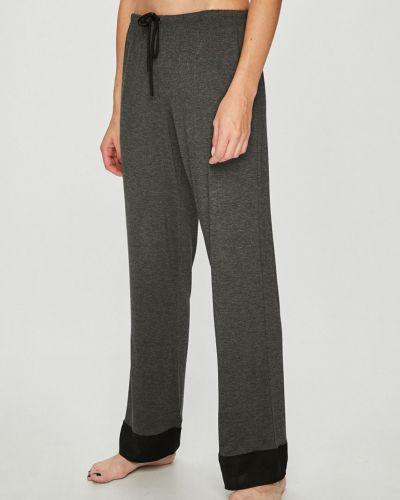 Брюки с завышенной талией пижамные с карманами Dkny