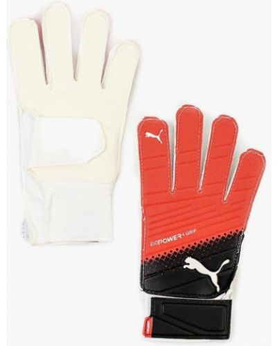 Белые текстильные перчатки Puma