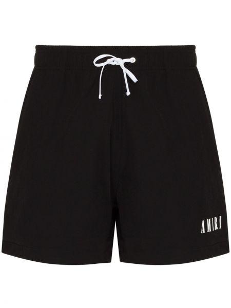 Шорты с карманами - черные Amiri
