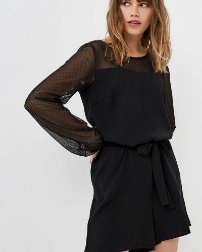 Черный комбинезон с шортами Vero Moda