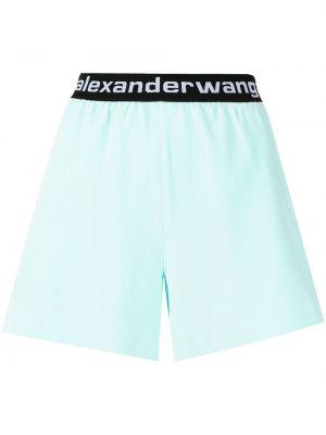 Шорты с карманами - синие Alexander Wang