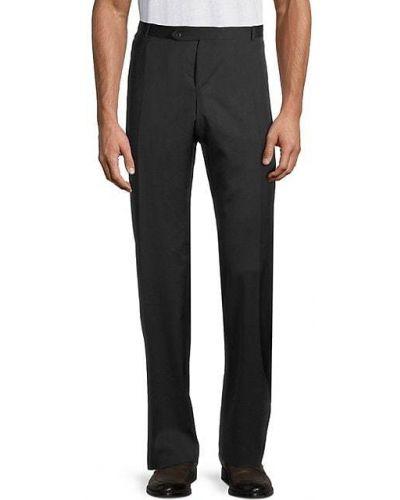 Шерстяные черные брюки с карманами Zanella