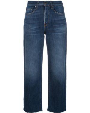 Прямые джинсы с завышенной талией - синие Rag & Bone/jean
