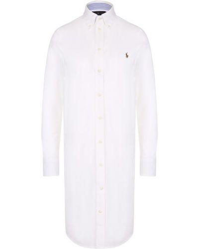 Платье с вышивкой на пуговицах Polo Ralph Lauren