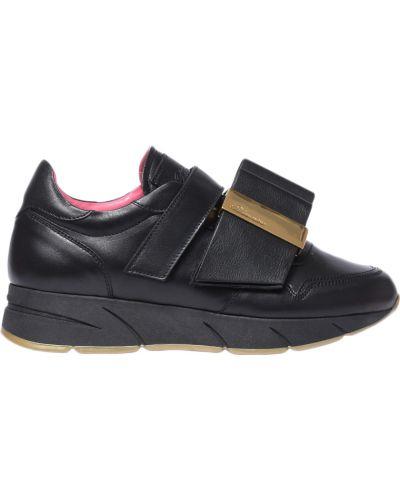 Кроссовки на платформе черные Blumarine