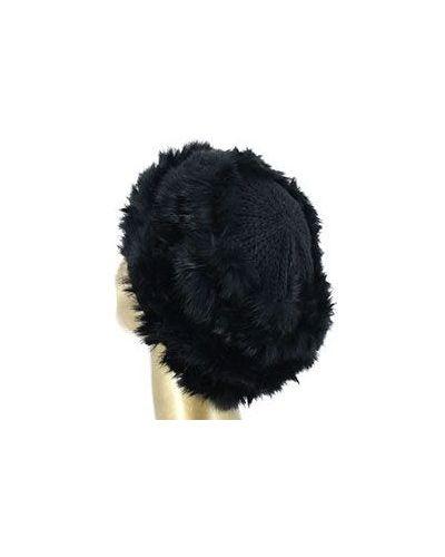 Вязаная шапка зимняя с мехом Emporio Armani