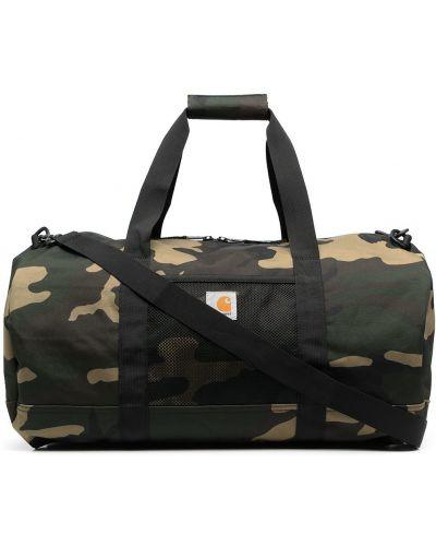 Зеленая дорожная сумка на молнии с нашивками Carhartt Wip