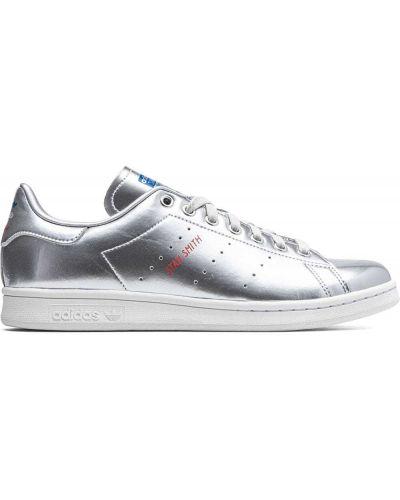 Top koronkowy sznurowany srebrny Adidas