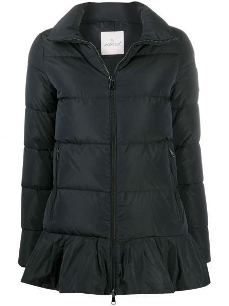 Czarna kurtka z długimi rękawami Moncler
