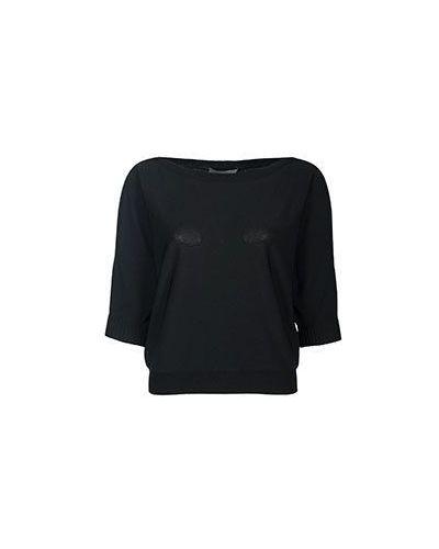 Черная блузка из вискозы D.exterior