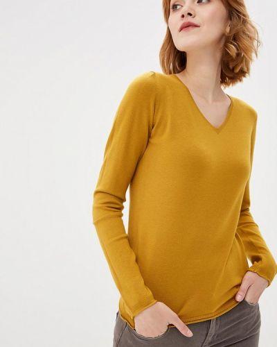 Желтый пуловер Bluoltre