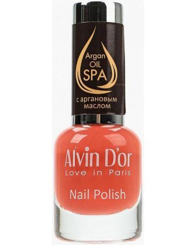 Оранжевый лак для ногтей Alvin D'or
