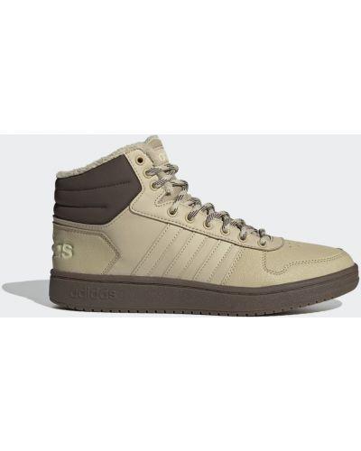 Коричневые городские высокие кроссовки со вставками из искусственной кожи Adidas