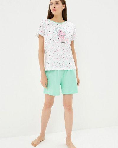 Пижама белая зеленый Kinanit