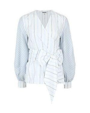 Рубашка - белая Ganni