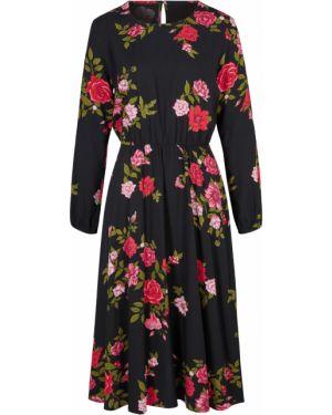 Платье миди платье-рубашка с длинными рукавами Bonprix