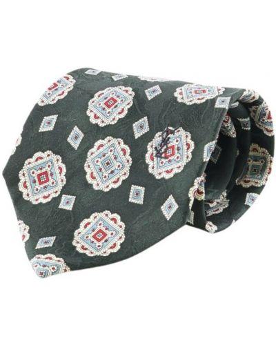 Krawat z jedwabiu - biały Saint Laurent Vintage