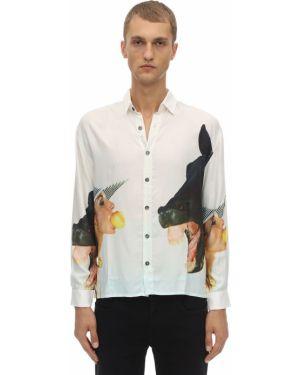 Koszula z wiskozy z printem Limitato