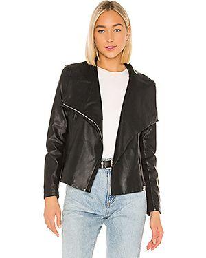 Кожаная куртка на резинке на молнии Bb Dakota