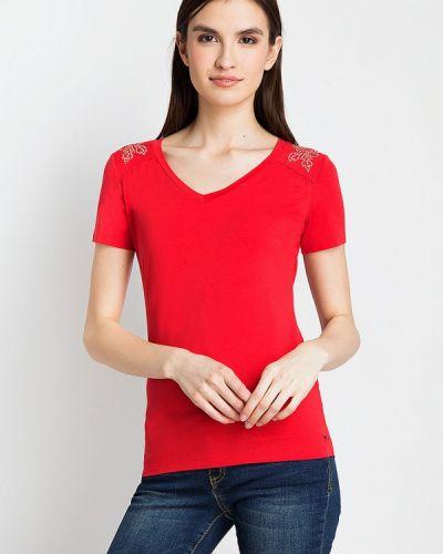 Красная футболка свободная Finn Flare