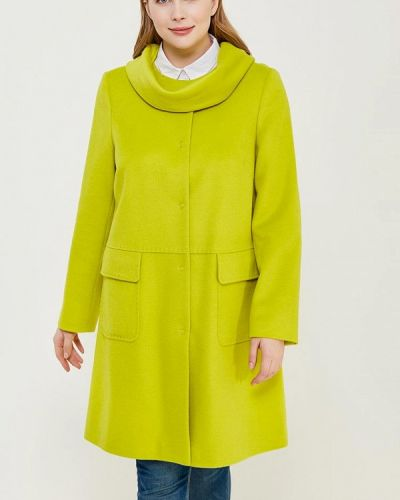 Зеленое пальто осеннее синар