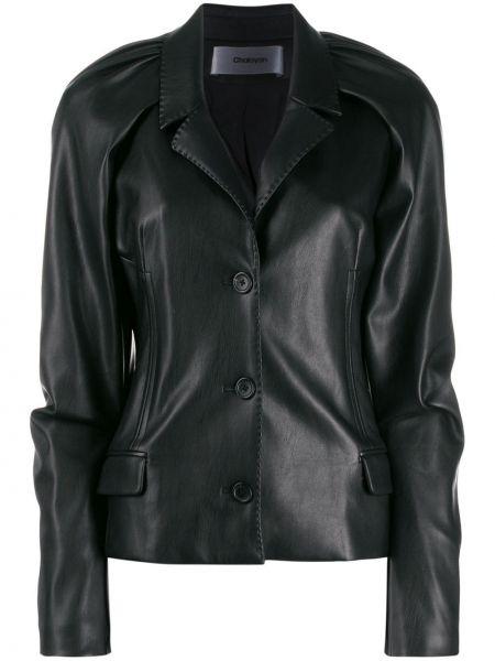Хлопковая черная короткая куртка с карманами Chalayan