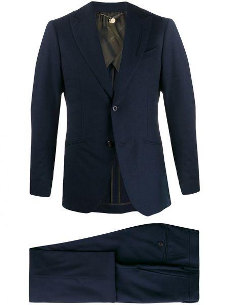 Прямой костюмный костюм на пуговицах с карманами Maurizio Miri