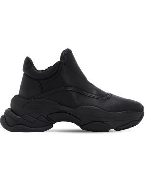 Кожаные кроссовки на молнии оверсайз Jeffrey Campbell