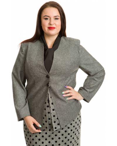 Шерстяной пиджак с воротником на пуговицах Luxury