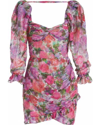 Платье мини в цветочный принт - розовое Patbo