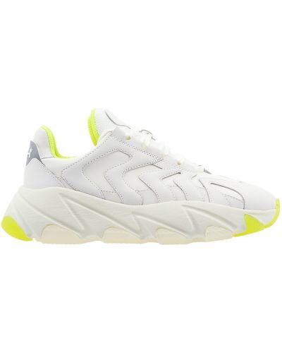 Кожаные кроссовки на платформе белый Ash