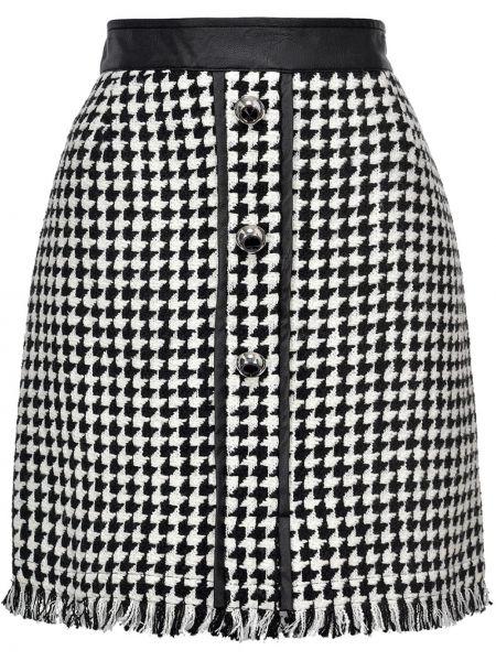 Trykotowy biały skórzany trykotowy spódnica frędzlami Pinko