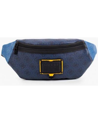 Синяя сумка осенняя Guess