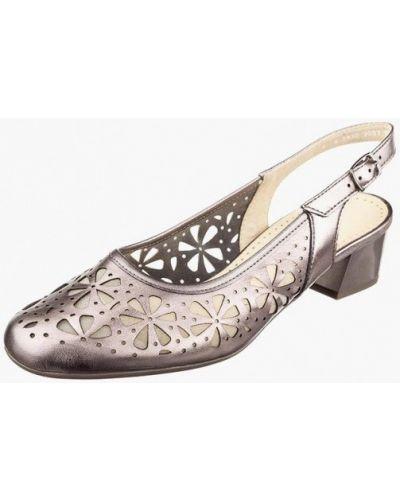 Кожаные туфли - золотые Ara