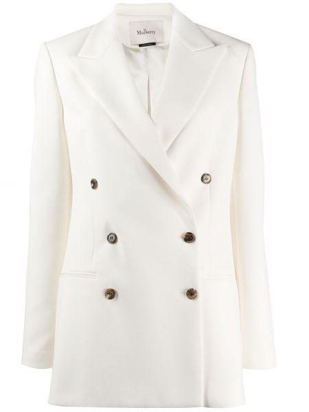 Свободный короткая куртка двубортный с длинными рукавами Mulberry