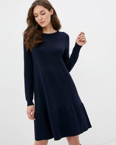 Синее вязаное платье Savage